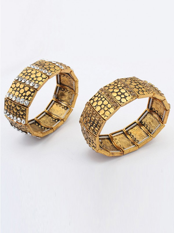 Occident Exotic Personality Wide version Elasticity Hot Sale Bracelet