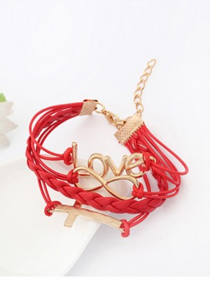 Korean version Romantic Password love Cross Hot Sale Bracelets