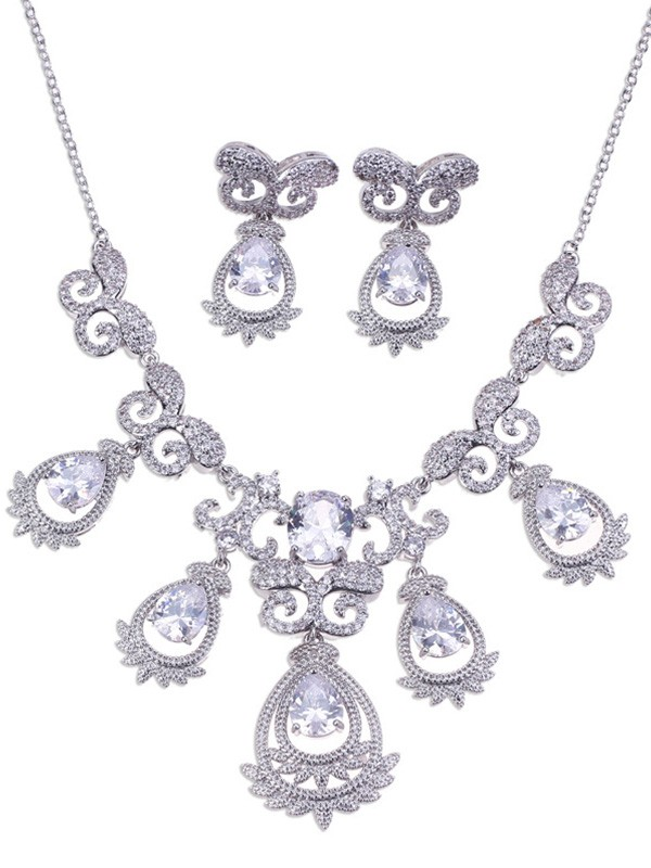 Alloy Wedding Bridal Hot Sale Jewelry Set