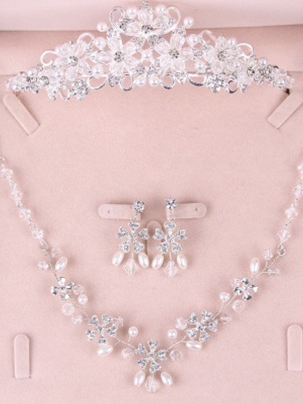 Korean Alloy Wedding Bridal Jewelry Set