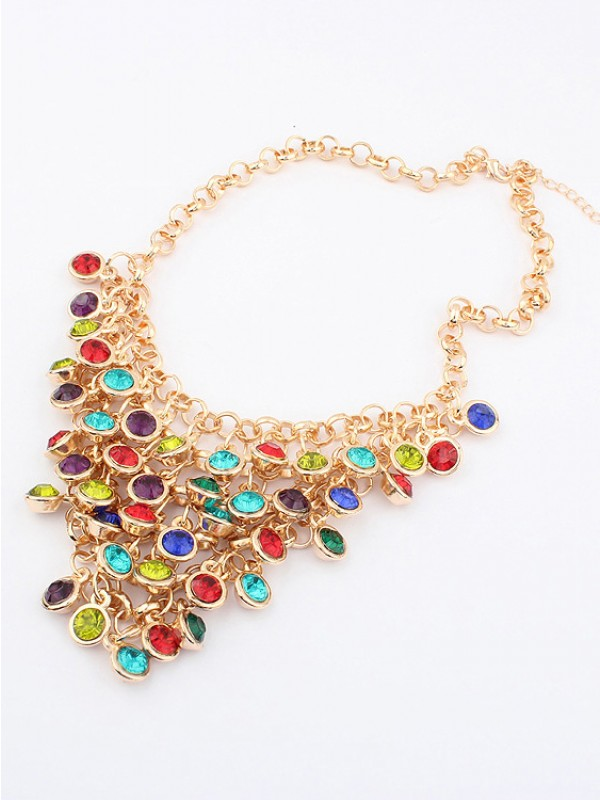 Korean version Colorful wafer curtain Stylish Hot Sale Necklace