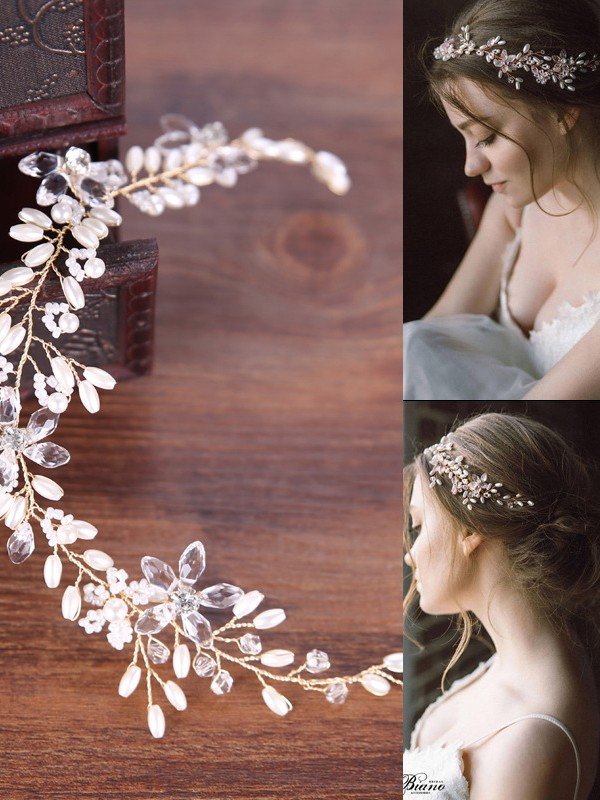 Simple Pearl Headpieces