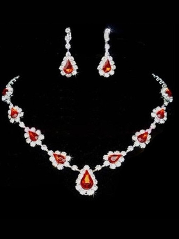 Korean Rhinestone Wedding Bridal Jewelry Set
