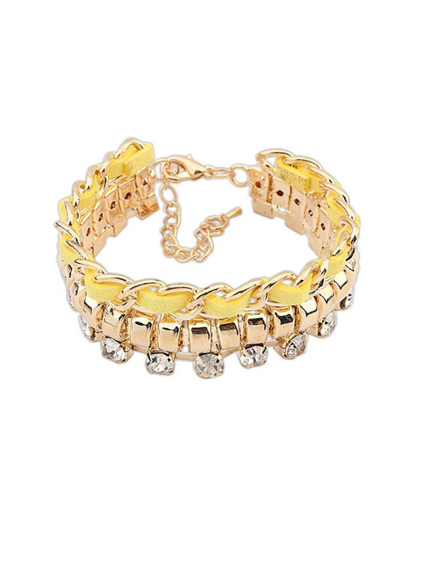 Occident Fashionable New Flash Drilling Woven Hot Sale Bracelets