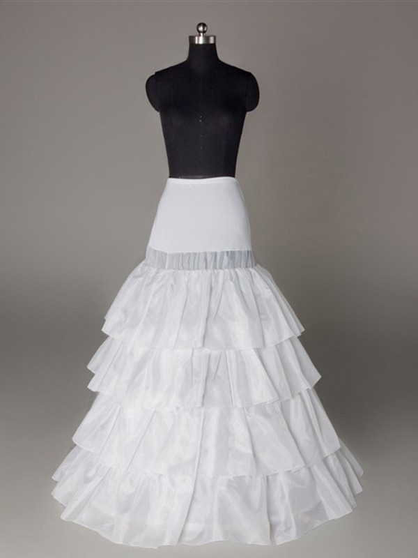 Nylon A-Line 4 Tier Floor Length Slip Style/Wedding Petticoats