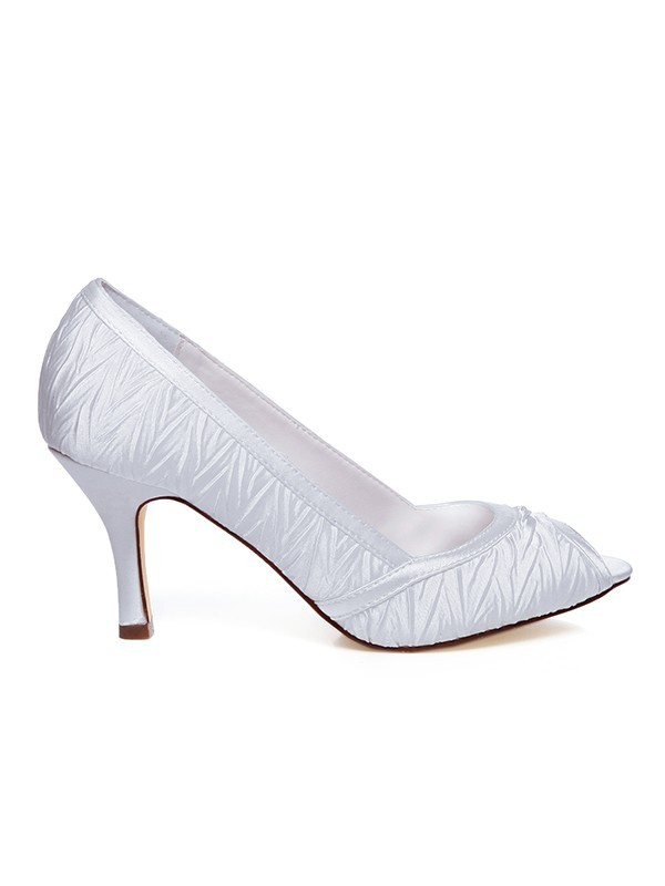 Women's Satin Spool Heel Wedding Shoes